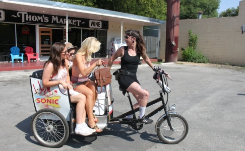 Austin pedicab advertising